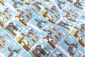 Algodón SG Mario Bros Celeste