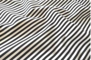 Algodón Rayas Nt Negro (5mm)