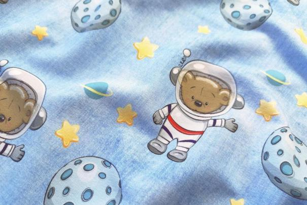 Punto French Terry Nt Denim Space Bear