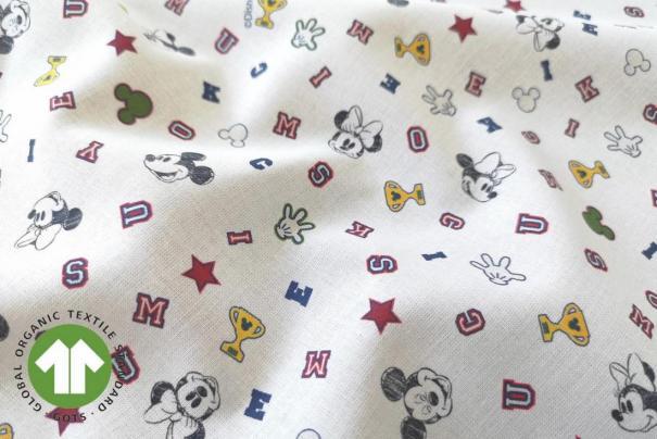 Algodón Mc Disney Mickey y Minnie Mouse
