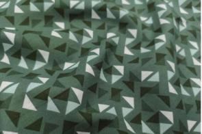 Popelín Nt Triángulos Verde