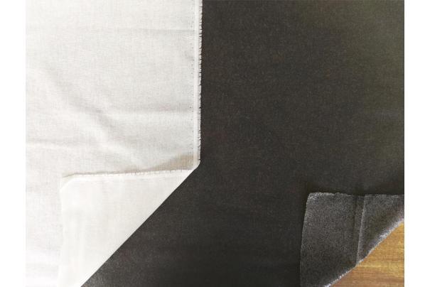 Entretela Adhesiva Algodón Blanca/Negra